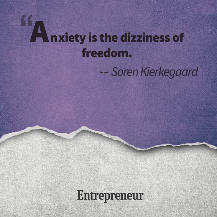 Anxiety is the dizziness of freedom... - Soren Kierkegaard #quotes