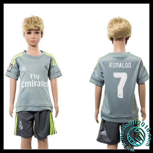 Jeu De Maillot Real Madrid (Ronaldo 7) Enfant Kits Extérieur 2015 2016 en ligne
