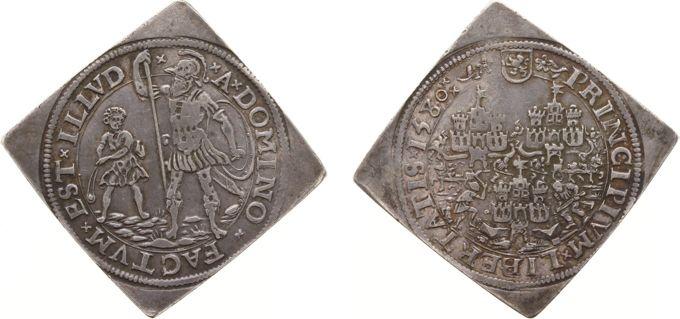 Rekenpenningen / Jetons - 1580 - Rekenpenning Leeuwarden 'Het Slechten van de Forten te Leeuwarden, Harlingen en Stavoren' (Dugn.2805, vLoonI.281.2, Tas161) - VZ Het afbreken van de drie forten, PRICIPIVM LIBERTATIS 1580 / KZ David met slinger (Willem van Oranje) en Goliath (Spanje) in gevecht - zilver 30x30 mm, op vierkant plaatje geslagen - ZF/PR, RRRR, VAN DE HOOGSTE ZELDZAAMHEID. Kavel 4918
