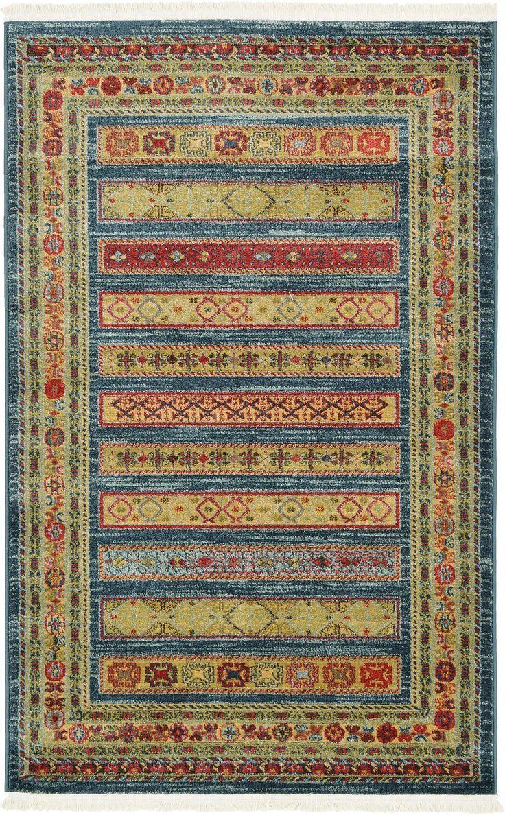 Blue 3' 3 x 5' 3 Kashkuli Gabbeh Rug | Area Rugs | eSaleRugs