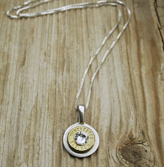 .223 Brass Head Bullet Necklace
