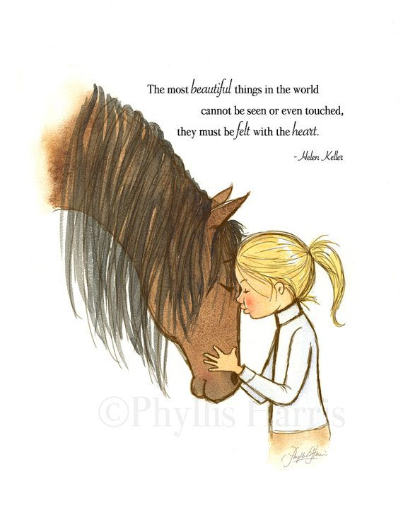 Girl's Horse Wall Art- Customizable Hair Color – offered with or without text- Equestrian