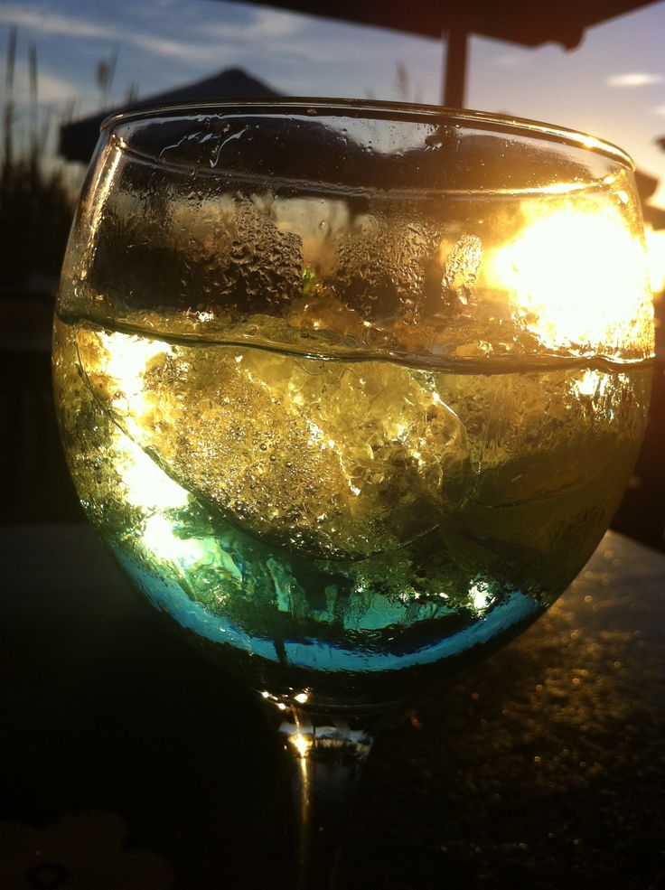Nothing better than a gin and tonic enjoying a sunset!