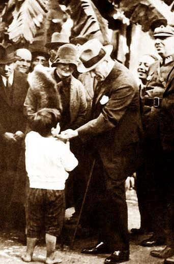Atatürk and Child -Mustafa Kemal Ataturk, first president of the Republic of Turkiye. Ataturk fought hard to make Turkiye a secular democratic modern nation.