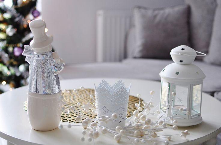 fashionable.com.pl  christmas, decor, home, white, snowman, christmas tree, święta, dom, dekoracje świąteczne, bałwan, choinka,