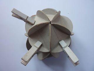 Reciclaje Artístico - Arte y Diversión: Chucherías de la Navidad de papel reciclado