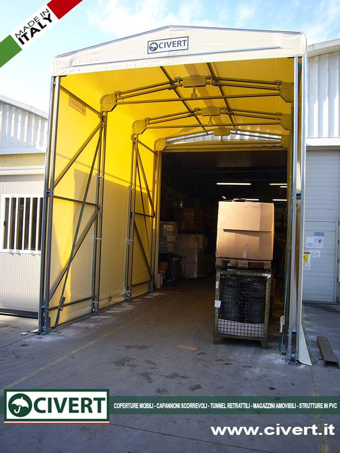 Tettoia mobile & Tunnel retrattile: doppia installazione in VML #TettoiaMobile #TunnelRetrattile #TettoiaPVC #TunnelPVC