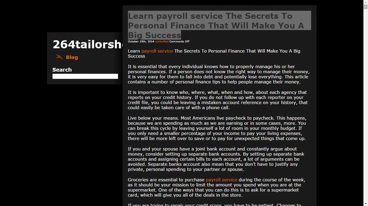 http://264tailorshop.com/ Learn payroll service The Secrets To Personal Finance That Will Make You A Big Success