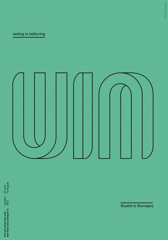 Creative Review - Conqueror's Typographic Games winners