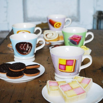 Cute cups for tea time. Made by MAKE International, the design is oh-so British.