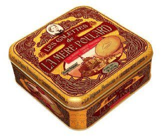 La Mere Poulard Galettes - Shortbread cookies from France, Metal Gift tin 8.8oz - http://mygourmetgifts.com/la-mere-poulard-galettes-shortbread-cookies-from-france-metal-gift-tin-8-8oz/