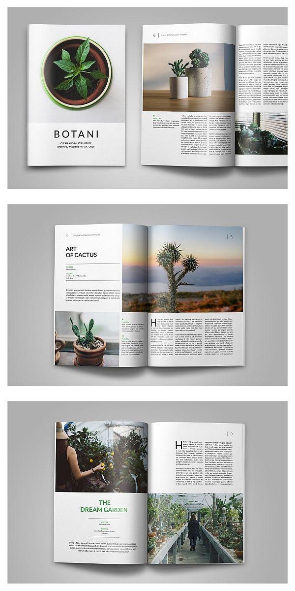 Minimal Magazine Template #brochure #template #indesign #magazine #lookbook #por…