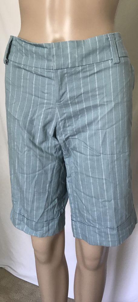 Gadzooks Blue and White Bermuda Shorts Women's Shorts Junior Shorts Sz L Large #Gadzooks #BermudaWalking