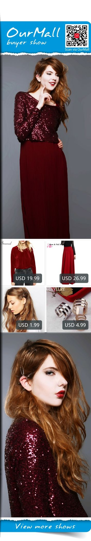 This is Ebba Zingmark's buyer show in OurMall;  1.new fashion velvet t-shirts for women crop top red long sleeve slim short t shirts hot 2.Pleat Elegant Skirt Wine Red Black Solid Color Long Skirts Women Faldas Saia 5XL 3.New Fashion Women Gold Silver Circle Plated Metal Trian... please click the picture for detail. http://ourmall.com/?3aqaMr #skirt #circleskirt #midiskirt #pleatedskirt #laceskirt #pencilskirt #Maxiskirt #skirtskater #kneelengthskirt #bohoskirt