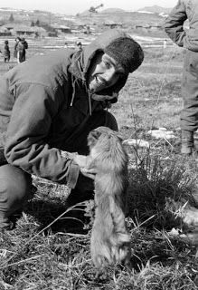 A Turkish Soldier and a pet