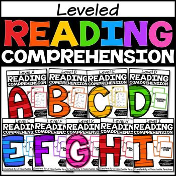 Leveled Reading Comprehension Passages GROWING BundleAre you looking for no prep reading passages that are leveled?  This  growing  bundle will include 10 leveled reading passages for reading levels A-I.  Each reading passage also includes quick comprehension activities.
