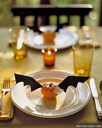 Halloween..... my very favorite place setting decoration/name plate! would also be cute