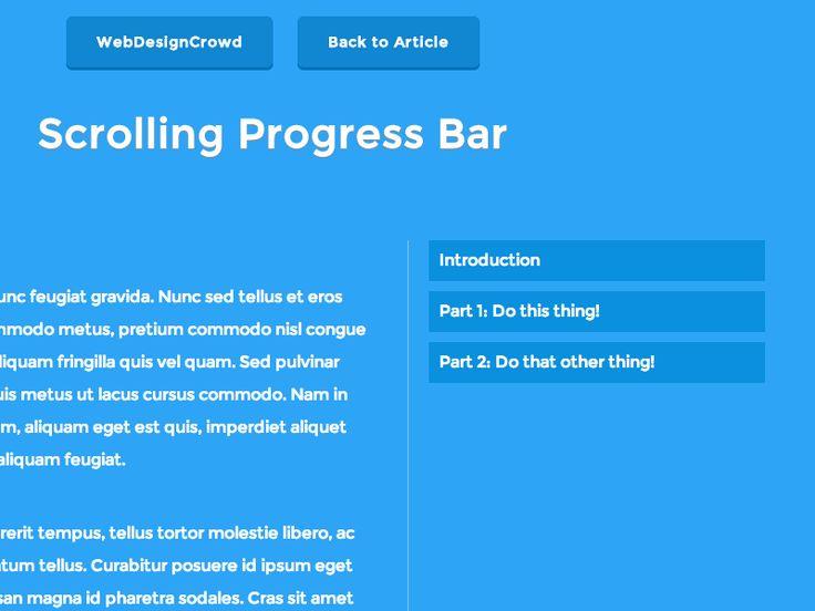 Scrolling progress bar