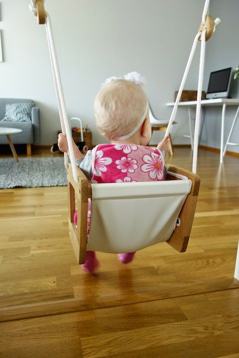 DecoDreamer's Diary: Lillagunga toddler, swing, keinu, puinen, wooden, white, valkoinen