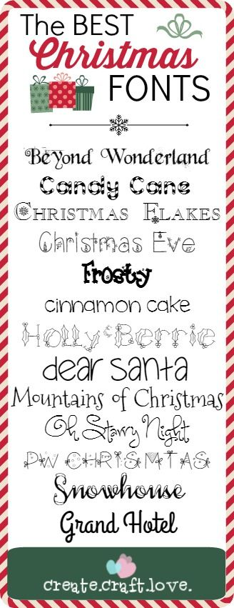 I promise you won't be sorry when you see this collection of the BEST Christmas Fonts I have rounded up for you!
