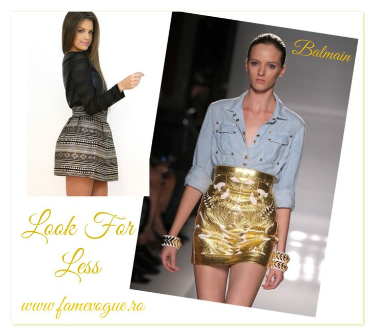 Purchase the must have little #gold #skirt from our online #clothing store, www.famevogue.ro....:)  #haine #moda #style #fashion #trends #skirt