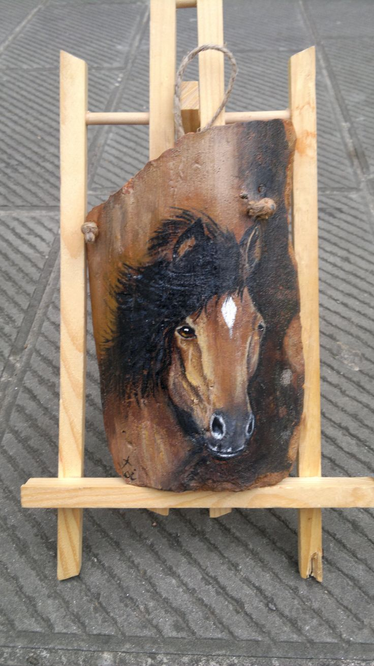 horse on a piece of tile