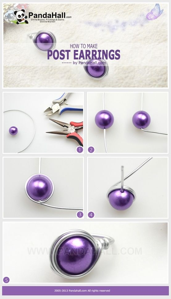 Easy DIY earrings.