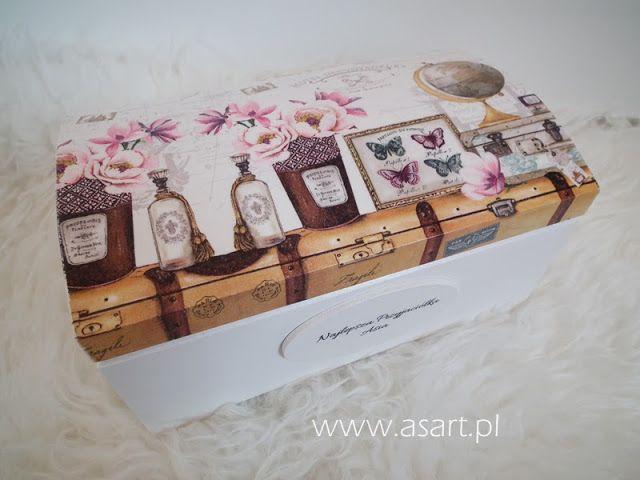 szkatułka decoupage ślub