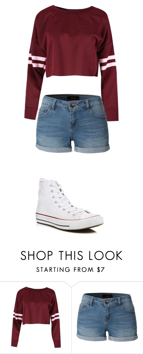 """""""awesome"""" by mhupp22 on Polyvore featuring LE3NO and Converse"""