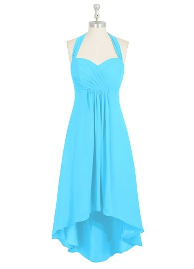 AZAZIE ANNABEL. The charming asymmetrical bridesmaid dress by Azazie has an A-line/princess cut in a comfortable chiffon. #Bridesmaid #Wedding #CustomDresses #AZAZIE Mollie  like this one too