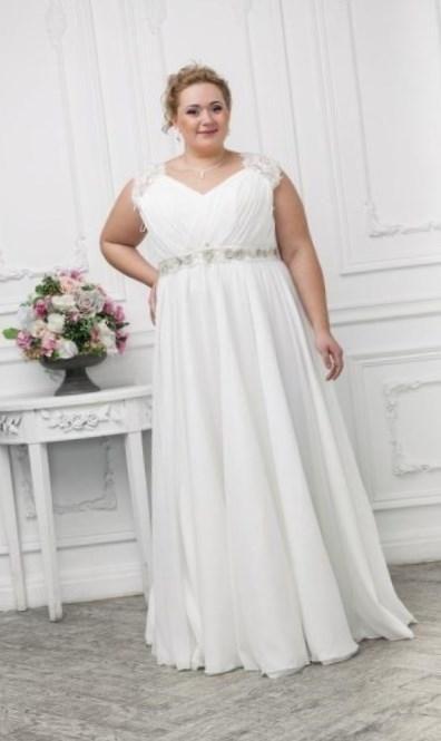Свадебное платье в греческом стиле для полных - http://1svadebnoeplate.ru/svadebnoe-plate-v-grecheskom-stile-dlja-polnyh-3018/ #свадьба #платье #свадебноеплатье #торжество #невеста