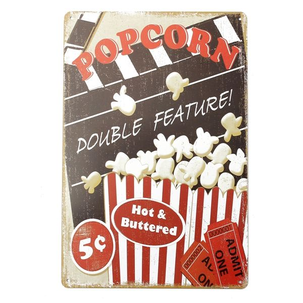 Wholesale price + Free shipping Popcorn Tin Sign Vintage Metal Plaque Poster Bar Pub Home Wall Decor . GET IT NOW! https://www.gekaz.com/product/popcorn-tin-sign-vintage-metal-plaque-poster-bar-pub-home-wall-decor-2/