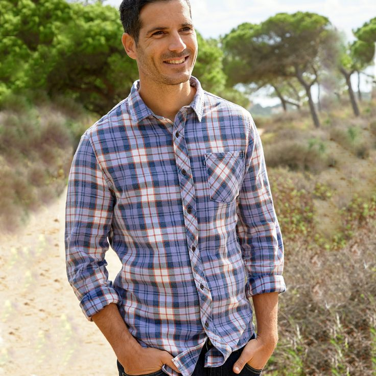 Cherokee Mens Flannel Check Shirt