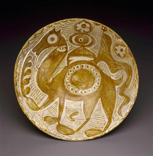 Bowl (Iraqi)  Date     10th Century Medium     Luster-painted tin-glazed earthenware