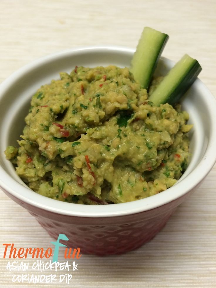 ThermoFun Club Member Recipe Week 30, 2015 – Asian Chickpea and Coriander Dip Recipe - Join Today! and have access to these past recipes.
