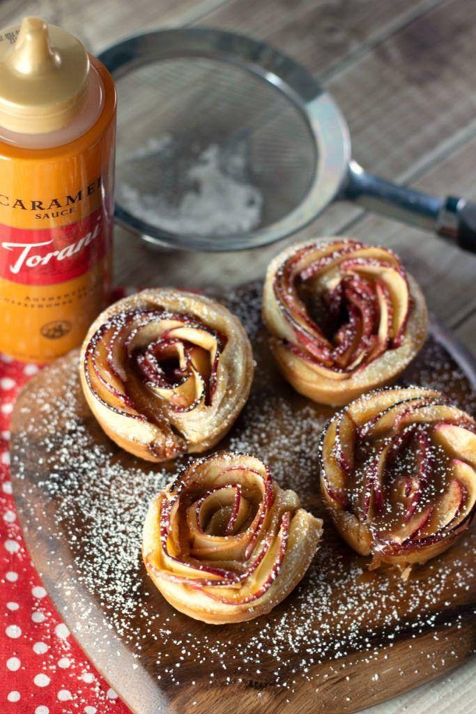 Caramel Apple Rose Tarts sind ein einzigartiges Dessert, das Ihre Freunde und …   – soon to be a day of thanks