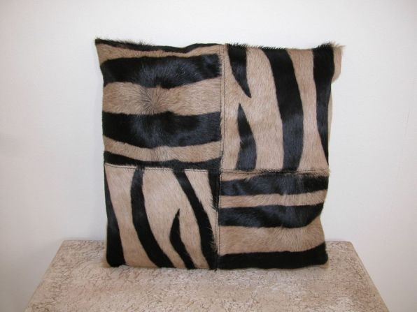 Zebra Print Cushion, Cushions, Textiles, Teak, Iron, and Rustic Furniture and Homeware | Obelisk Christchurch