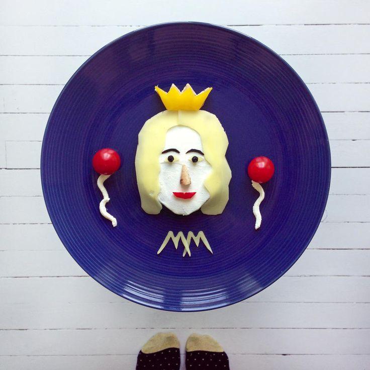 Den Mette Marit! Man kan jo feire med å spise seg mett på en morsom frokost.