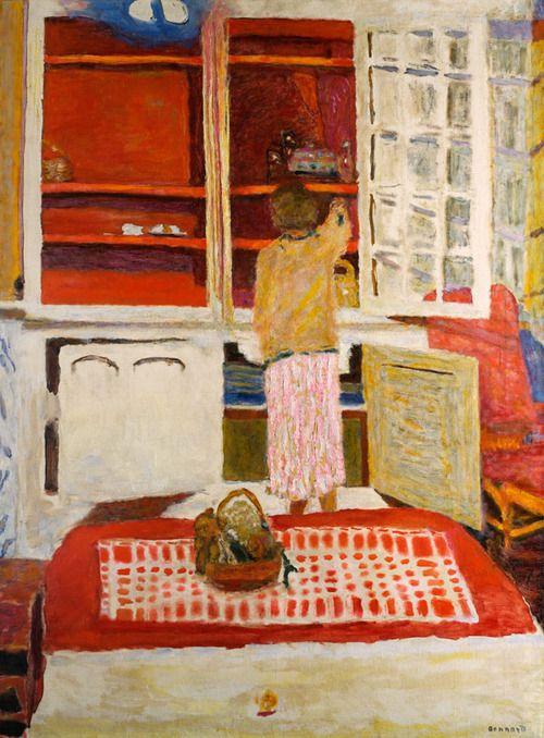 Pierre Bonnard,The White Cupboard (L'armoire blanche), 1931. Oil on canvas,