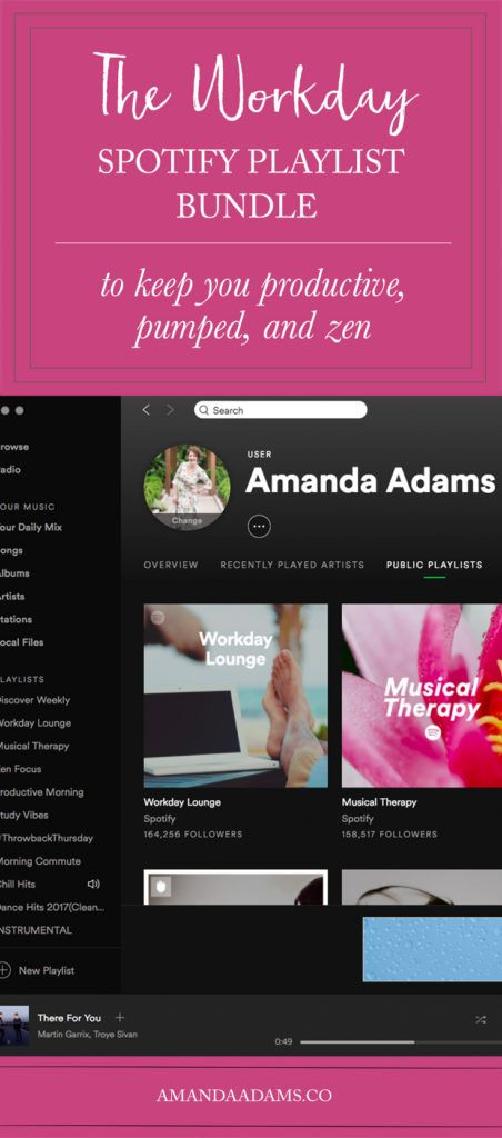 THE WORKDAY SPOTIFY PLAYLIST BUNDLE | Amanda Adams Photography
