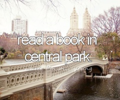 Read a book in Central Park #BucketList