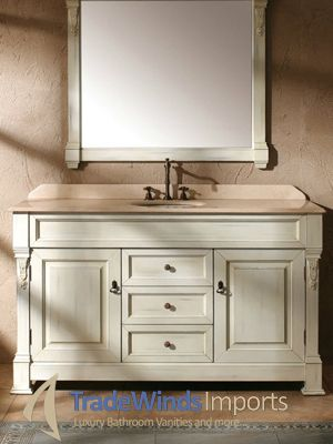 The Peruga Single Bath Vanity In Antique White Has A Lovely Antique Design  And A Lot Of Countertop Options.