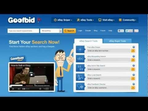 Goofbid - eBay Tools, eBay Misspellings, eBay Typos, eBay Sniper, eBay Bargains