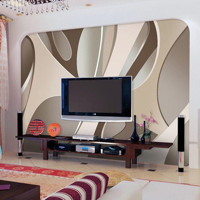 Venta al por mayor estilo moderno papel tapiz Mural para televisión de fondo sala 3d de Wall Mural fotográfico pared 3d Mural al Fresco decoración del hogar