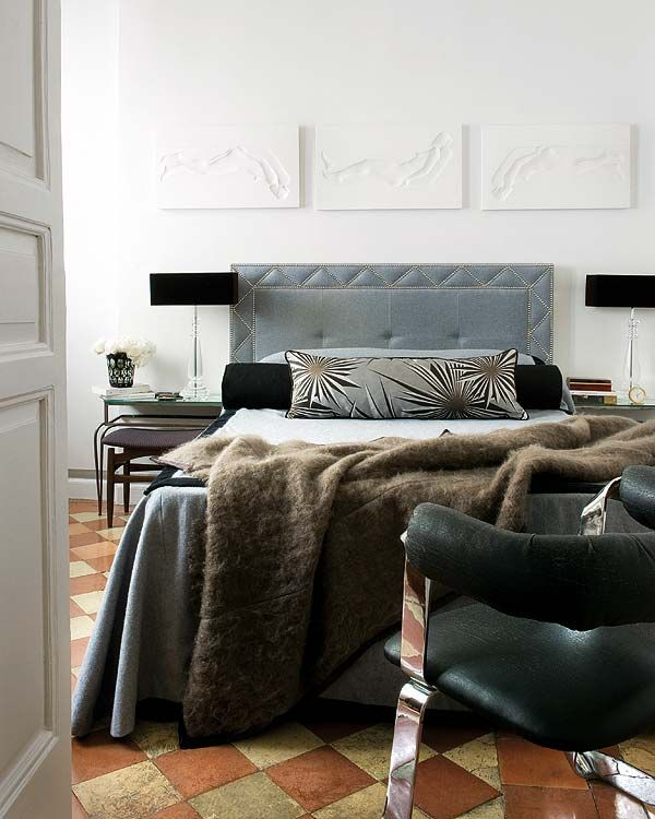sereneGrey Bedrooms, Bedrooms Colors, Raul Martin, Bedrooms Design, Masculine Bedrooms, Interiors Design, Habitually Chic, Master Bedrooms, Upholstered Headboards