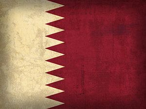 Distressed Flags Mixed Media - Qatar Flag Vintage Distressed Finish by Design Turnpike