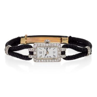 Cartier Paris Art Deco Diamond and Gold Watch by   Cartier
