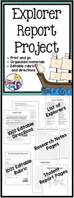 This 15 page explorer unit is aligned with the Common Core, and will help you guide your students to create meaningful, well-researched reports about a famous explorer. Great social studies research process. (TpT Resource)