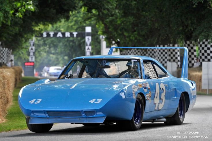 Richard 'The King' Petty in his 1970 Plymouth Superbird