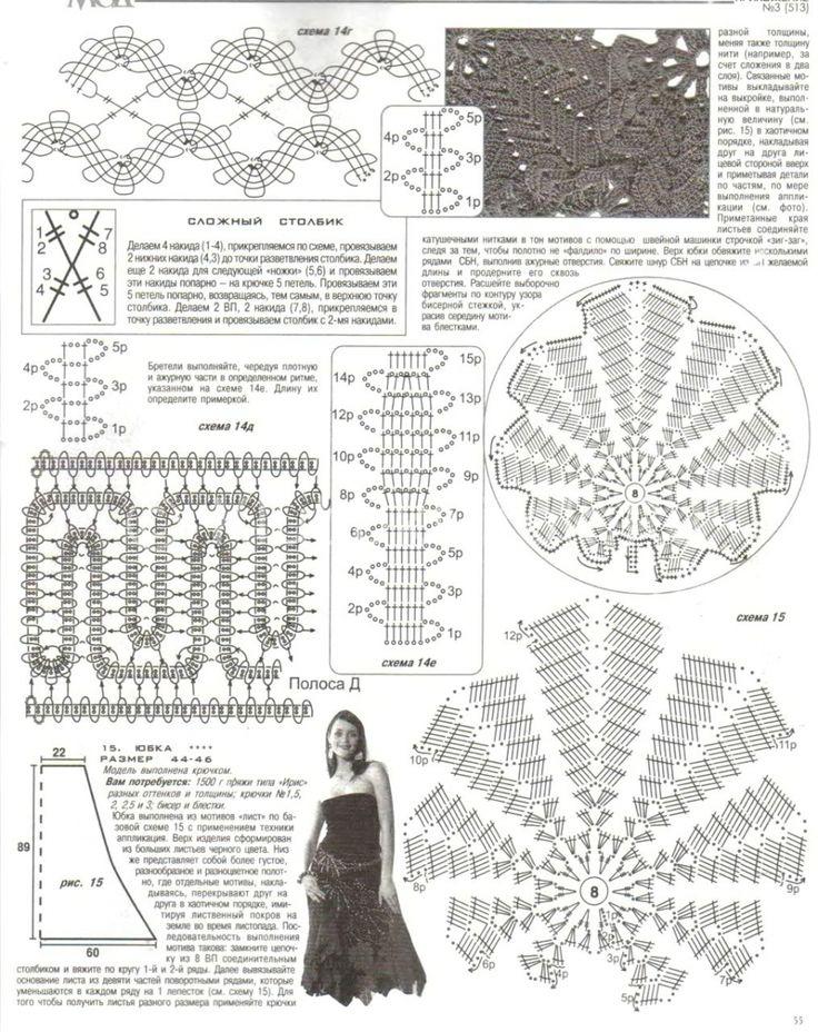 Красный сарафан Брюгге | Вязание для женщин | Вязание спицами и крючком. Схемы вязания.